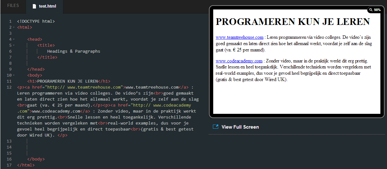 screenshot codeacademy