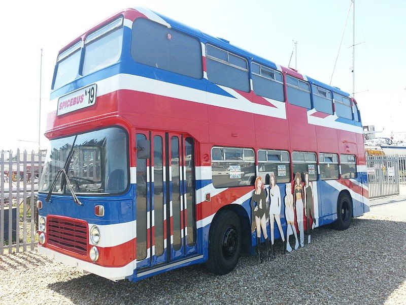 spice girls bus