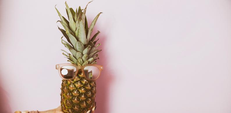 ananas prikken mond