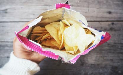 zak chips leeg