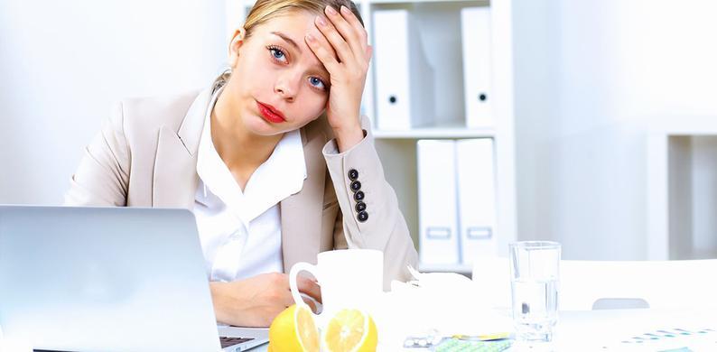griep en toch werken