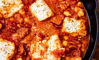 Spaanse kabeljauwschotel
