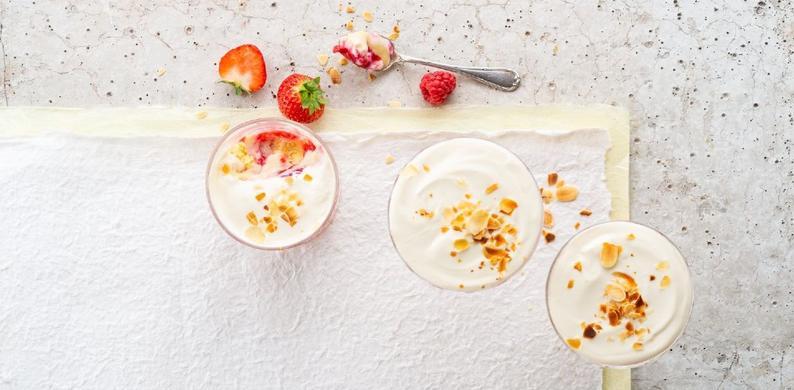 plantaardige fruit trifle