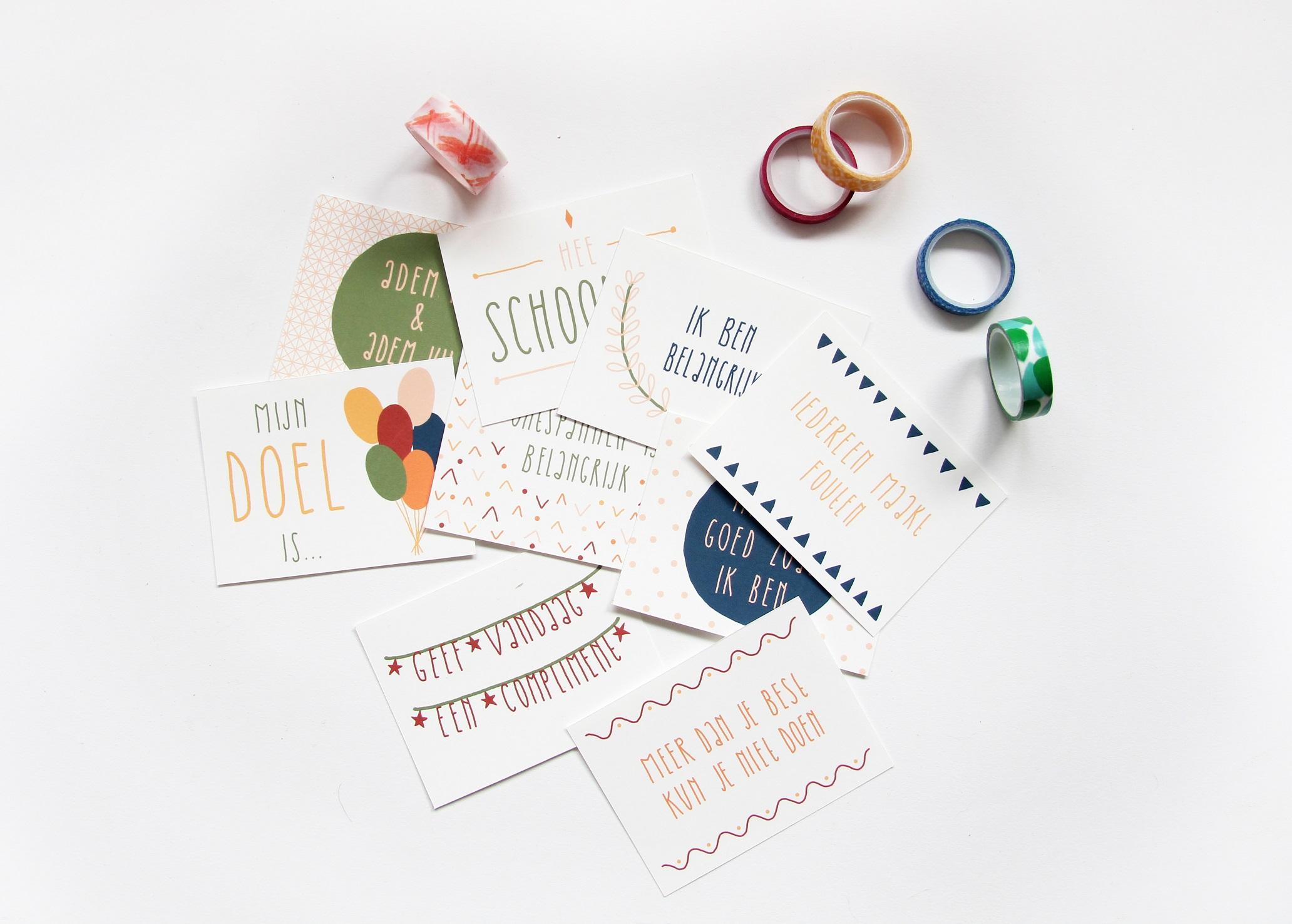 feel good spreuken DIY: Herinner jezelf aan positiviteit met deze feel good notes   V  feel good spreuken