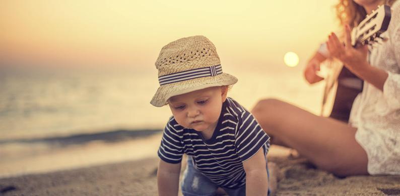 vakantie met baby