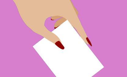 stemmen op vrouw