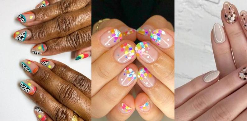 confetti nagels