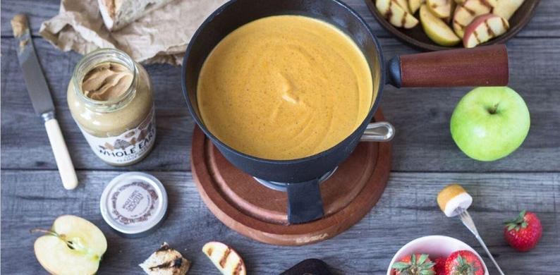 fonduen pindakaas