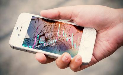 kapot telefoonscherm gezondheid