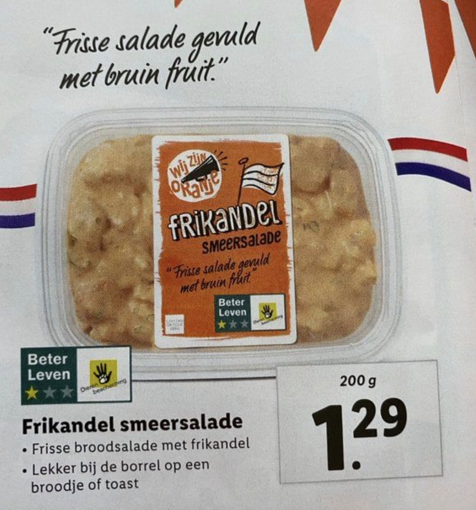Frikandelsmeersalade