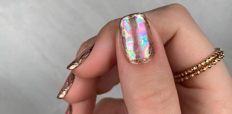 rainbow opal nagels
