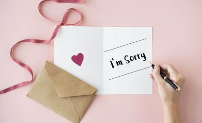 sorry zeggen