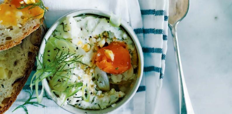 griekse zachtgekookte eieren