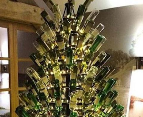 Kerstboom wijnliefhebber