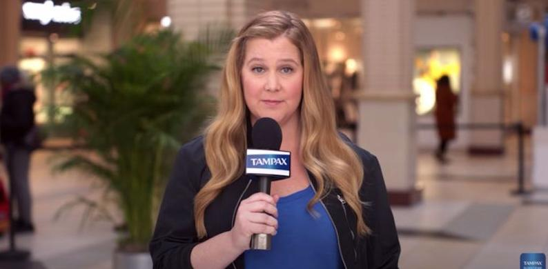 amy schumer tampax reclame