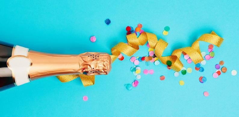 Dit is de reden van de holling in champagnefles